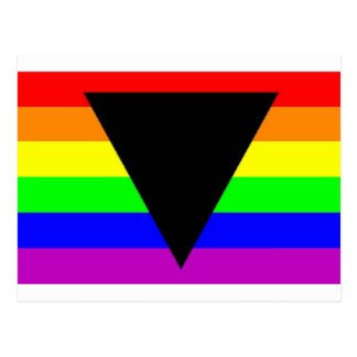 Rainbow with Black Triangle for Gay and Lesbians Postcard