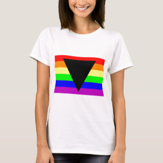 Rainbow with Black Triangle for Gay and Lesbians T-Shirt