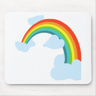 RAINBOW. WITH CLOUDSpng Mouse Pad