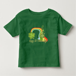 Rainbow with Clovers Toddler T-shirt