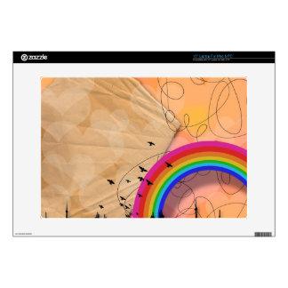 "Rainbow with Flying Birds 15"" Laptop Skin"