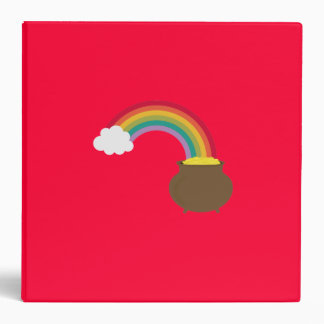rainbow with gold 3 ring binder
