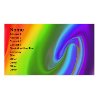 Rainbow with No End business card (style 2)