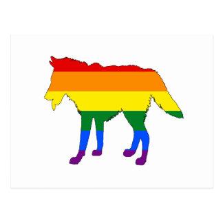 Rainbow Wolf Postcard