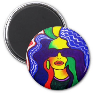 Rainbow Woman 10-1 by Piliero 2 Inch Round Magnet