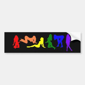 Rainbow Women gay pride Bumper Sticker