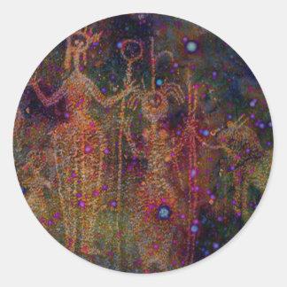 Rainbow Women Round Stickers
