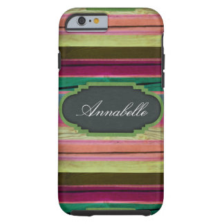 Rainbow Wood Chalkboard Personalized iPhone 6 Case