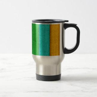 Rainbow wood travel mug