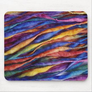 rainbow wool mouse pad