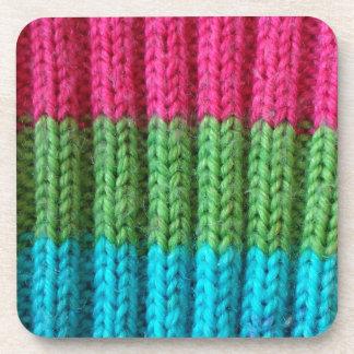 rainbow Wool Sock Drink Coaster