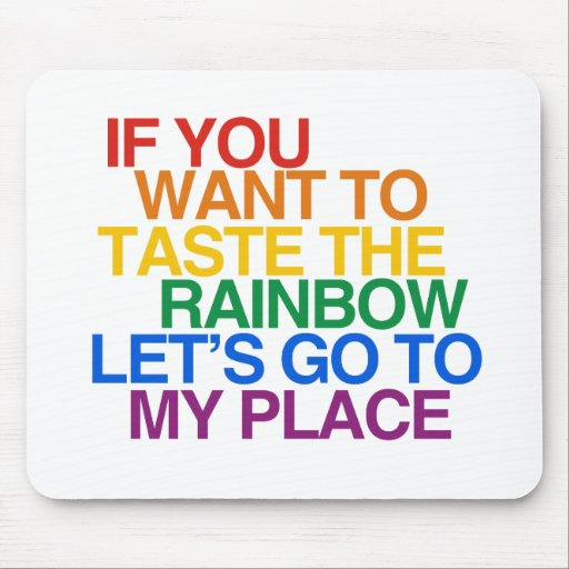 RAINBOW WORDS MOUSE PAD