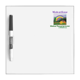Rainbow Work-at-Home Medical Transcriptionist Dry-Erase Board