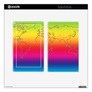Rainbow World Decals For Kindle Fire