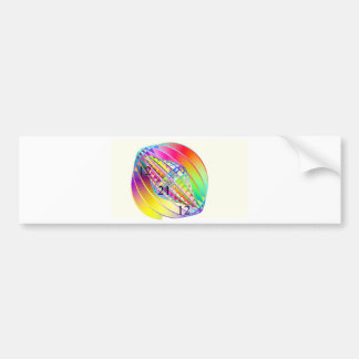Rainbow World Gyroscope Bumper Sticker