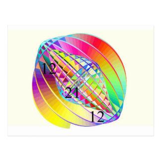 Rainbow World Gyroscopic PostCard