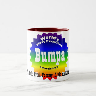 RAINBOW World's Most Excellent....Bumpa Two-Tone Coffee Mug