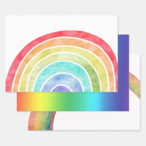 Rainbow Wrapping Paper Sheets