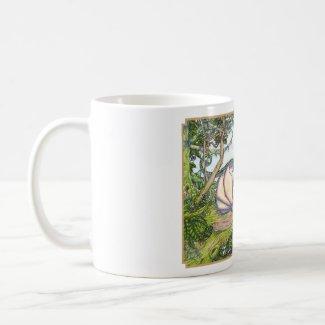 Rainbow wyvern mug - full image border mug