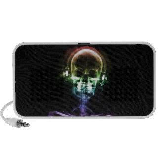 Rainbow X-Ray Music Headphones Skeleton PC Speakers