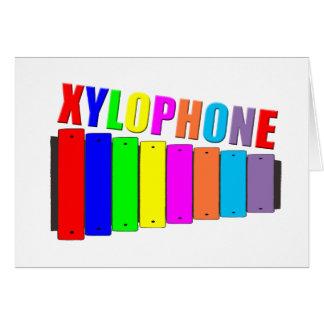 rainbow xylophone card