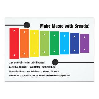 Rainbow Xylophone Invitation