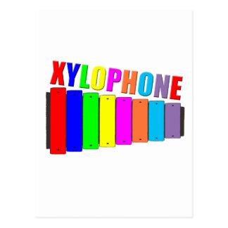 rainbow xylophone postcard