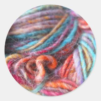 Rainbow Yarn Bundle Classic Round Sticker