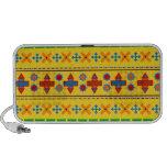 Rainbow yellow aztec tribal pattern mp3 speakers