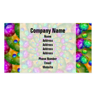 Rainbow Yellow Bokeh Fractal Art Business Card