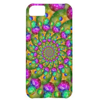 Rainbow Yellow Bokeh Fractal Art Cover For iPhone 5C