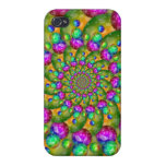 Rainbow Yellow Bokeh Fractal Art iPhone 4/4S Case