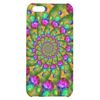 Rainbow Yellow Bokeh Fractal Art iPhone 5C Case