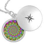 Rainbow Yellow Bokeh Fractal Art Jewelry