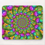 Rainbow Yellow Bokeh Fractal Art Mouse Pads