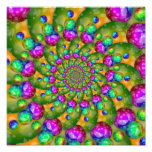 Rainbow Yellow Bokeh Fractal Art Photographic Print