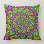 Rainbow Yellow Bokeh Fractal Art Pillows