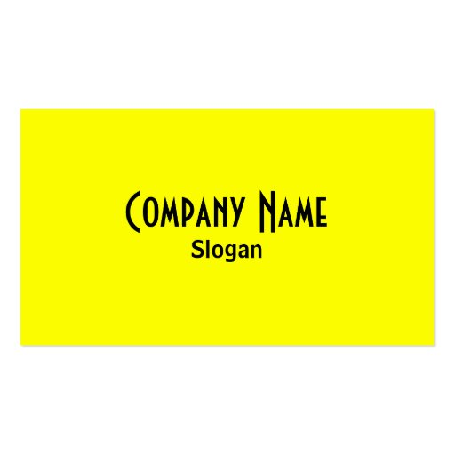 Rainbow Yellow Business Card