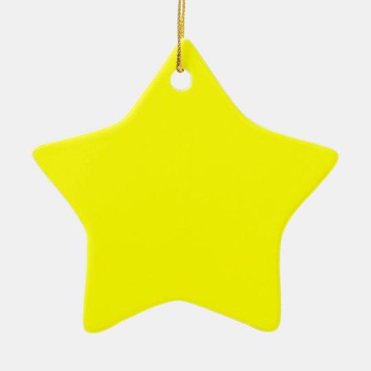 Rainbow Yellow Ceramic Ornament