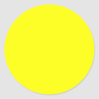 Rainbow Yellow Classic Round Sticker
