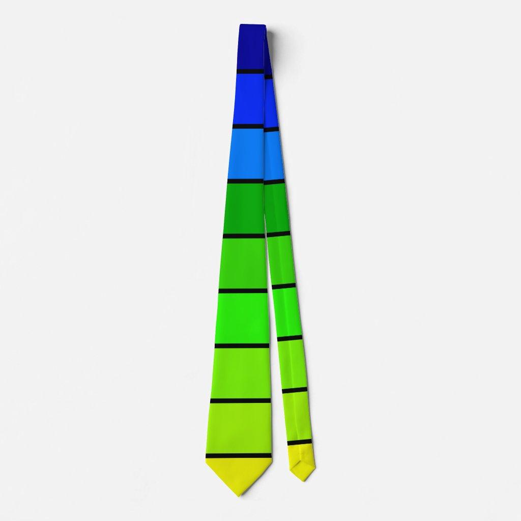 Rainbow Yellow Green Blue Summer CricketDiane Ties