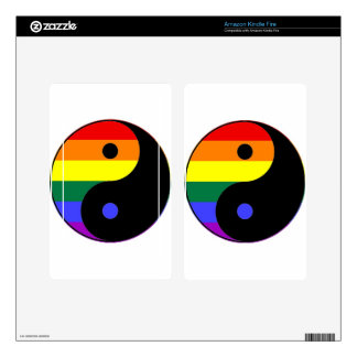 Rainbow Yin and Yang - LGBT Pride Rainbow Colors Skin For Kindle Fire