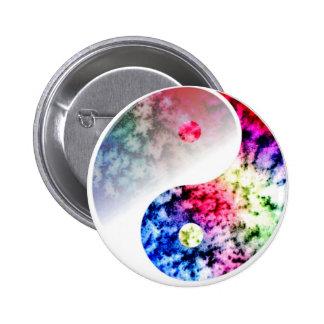 Rainbow Yin Yang 2 Inch Round Button