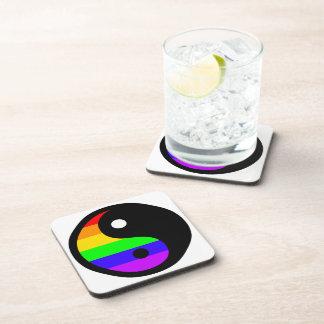 Rainbow Yin Yang Coasters