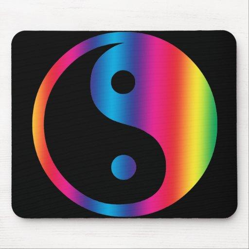 Rainbow Yin Yang  Mousepad