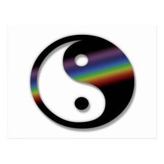 Rainbow Yin Yang Postcard