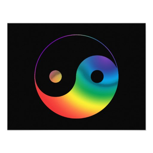 Rainbow Yin Yang Symbol Announcements