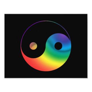 Rainbow Yin Yang Symbol Card