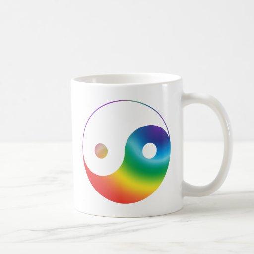 Rainbow Yin Yang Symbol Coffee Mug