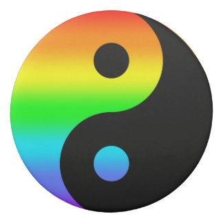 Rainbow Yin Yang Symbol Eraser